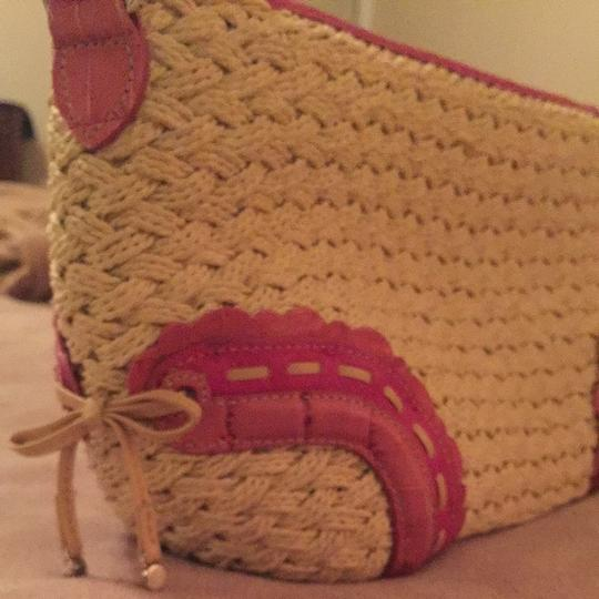 Brighton Tote in Pink And Wicker
