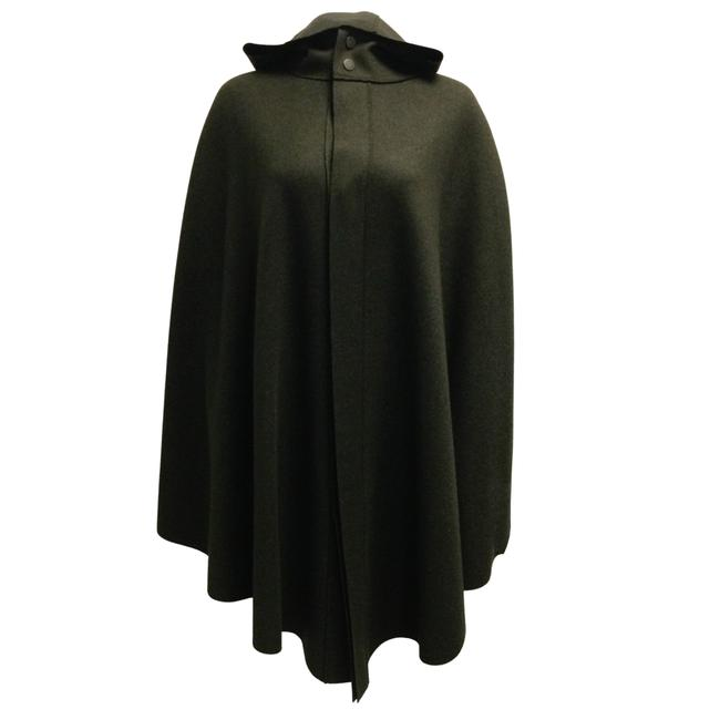Item - Green Cashmere Hooded Poncho/Cape Size OS (one size)