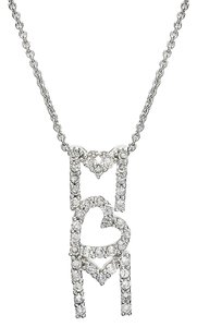 B. Brilliant Vertical Pave Crystal 'MOM' Pendant