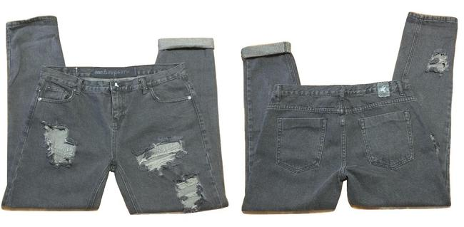 Item - Black Distressed Awesome Baggies Ripped 12/13 Boyfriend Cut Jeans Size 31 (6, M)
