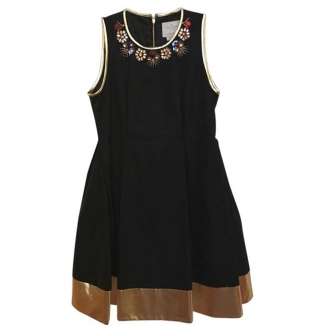 Item - Black Gold Rumer with Embellishments Short Cocktail Dress Size 4 (S)