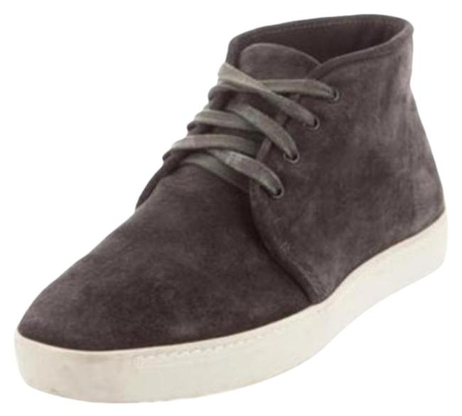 Item - Gray Cream High Top Suede Tops Sneakers Size US 10 Regular (M, B)