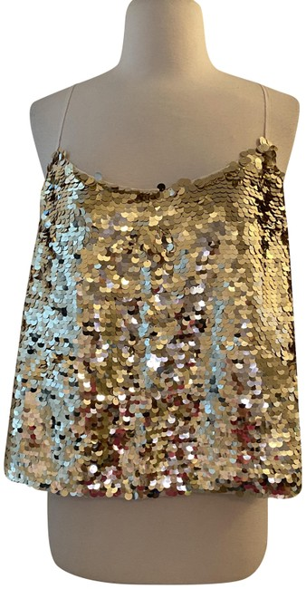 Item - Pale Gold Collection Sequin Camisole. M. Color: Tank Top/Cami Size 8 (M)
