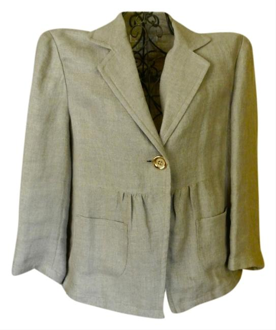 Michael Kors Marc Jacobs Cropped Gold Linen Jacket Sweater