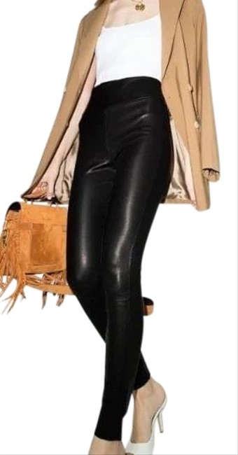 Item - Black Leather Leggings Size 4 (S, 27)