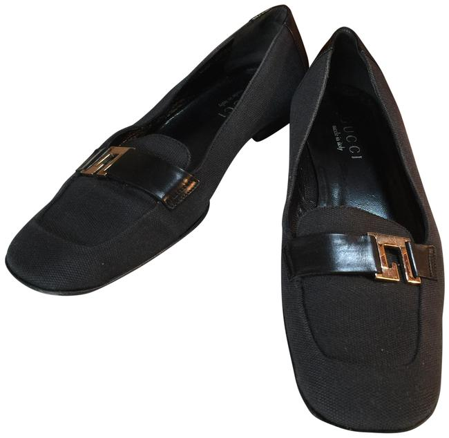 Item - Black Silver Italy Loafers Moccasins Flats Size US 5.5 Regular (M, B)