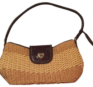 Brighton Tote in Brown And Wicker