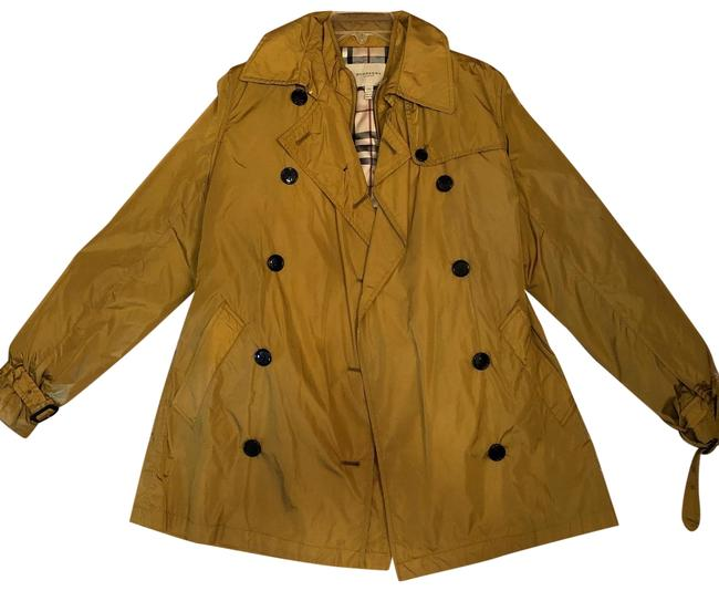 Item - Gold/Light Brown With Detachable Warmer Jacket Coat Size 10 (M)