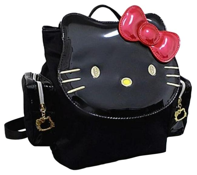 Item - Purse & Red Patent Leather Black Backpack