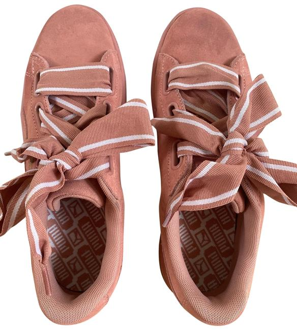 Item - Dusty Rose Basket Heart Suede Leather Sneakers Size US 9 Regular (M, B)