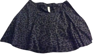 Aeropostale Mini Skirt Gray Black Leopard print