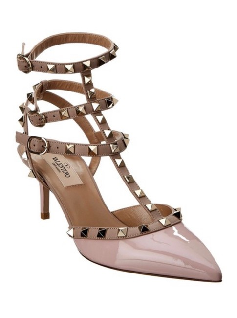 Item - Poudre/Nude Rockstud Pointy Toe Caged Pumps Size EU 38.5 (Approx. US 8.5) Regular (M, B)