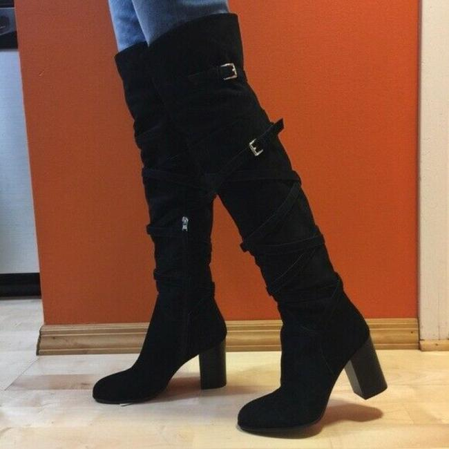 Item - Black Sable Over The Knee Boots/Booties Size US 7 Regular (M, B)
