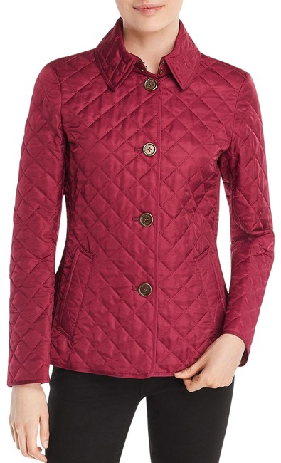Burberry Deep Fuchsia Ashurst Quilted Jacket Size 12 (L) Burberry Deep Fuchsia Ashurst Quilted Jacket Size 12 (L) Image 1