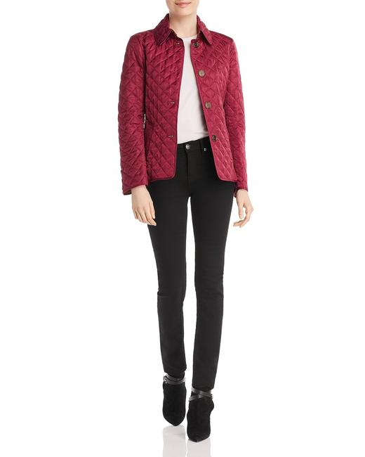 Burberry Deep Fuchsia Ashurst Quilted Jacket Size 12 (L) Burberry Deep Fuchsia Ashurst Quilted Jacket Size 12 (L) Image 2