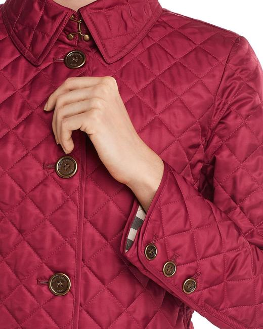 Burberry Deep Fuchsia Ashurst Quilted Jacket Size 12 (L) Burberry Deep Fuchsia Ashurst Quilted Jacket Size 12 (L) Image 3