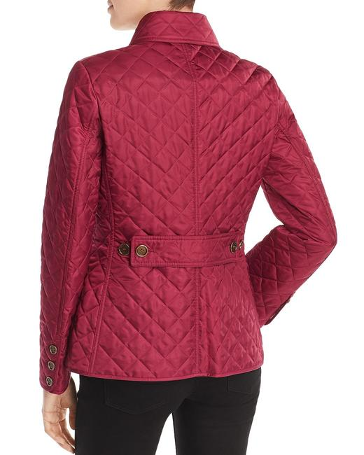Burberry Deep Fuchsia Ashurst Quilted Jacket Size 12 (L) Burberry Deep Fuchsia Ashurst Quilted Jacket Size 12 (L) Image 4