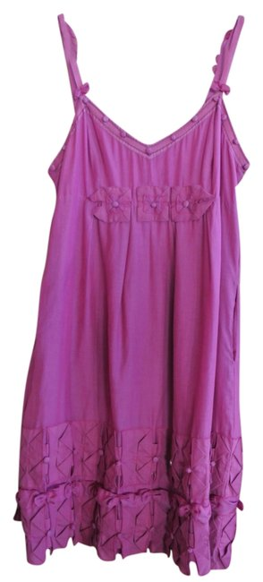 Yoana Baraschi short dress Fuschia Sleeveless With Bow Details on Tradesy