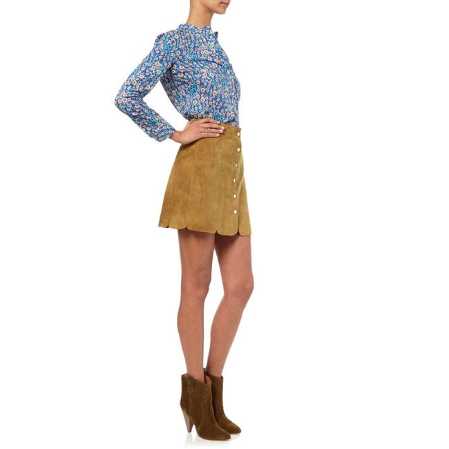 Item - Camel Etoile Anna Suede In Skirt Size 0 (XS, 25)