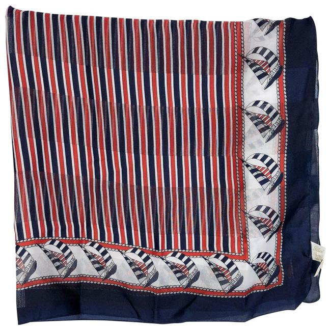 Item - Brown Sail Boat Scarf Handkerchief 31x31 Inch Length 120 Poncho/Cape Size OS (one size)