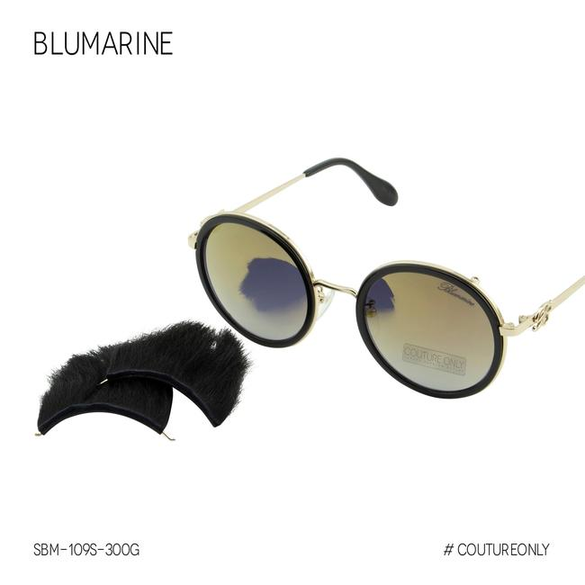 Item - Gold Limited Edition Sbm-109s-300g Mirrored Round Sunglasses
