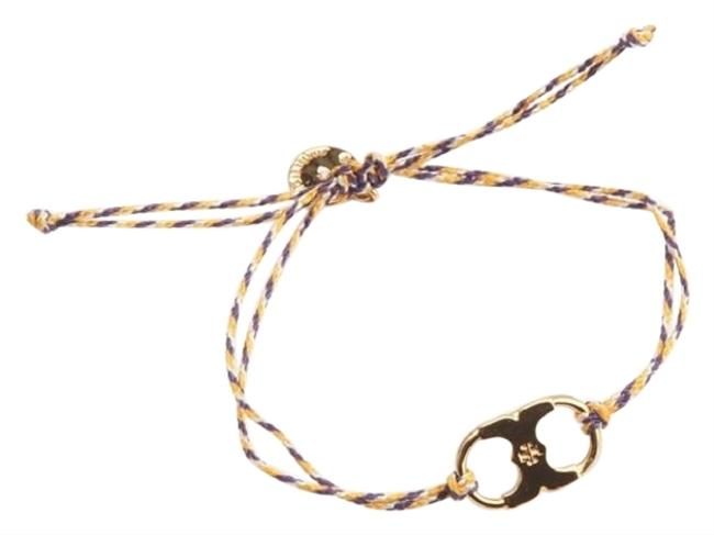 Item - Gold/Purple/Cream/Purple New Braided Embrace Ambition Silk Gemini Bracelet