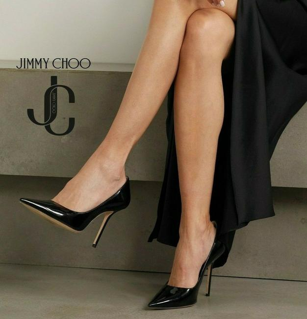 Item - Black Romy 85 Classic Pointed Toe Heel Patent Leather Pumps Size US 8 Regular (M, B)