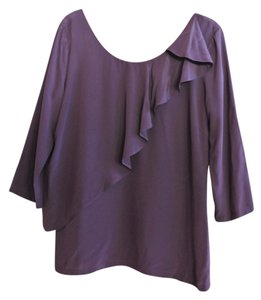 See by Chloé Silk With V Shaped Back And Ruffle Detail Top Mauve