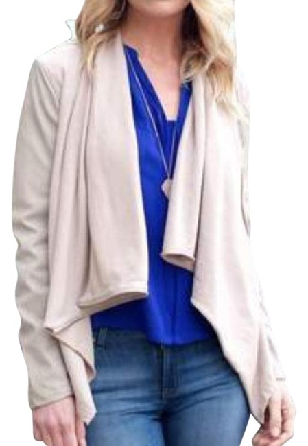 Item - Taupe Faux Leather Small S Jacket Size 4 (S)