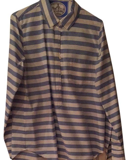 Preload https://item3.tradesy.com/images/jcrew-blue-white-stripe-button-down-top-size-10-m-2821402-0-0.jpg?width=400&height=650