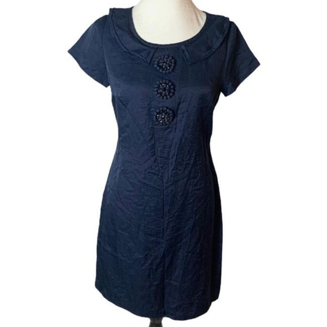 Item - Navy Limited Edition Silk Audrey Mid-length Cocktail Dress Size 6 (S)