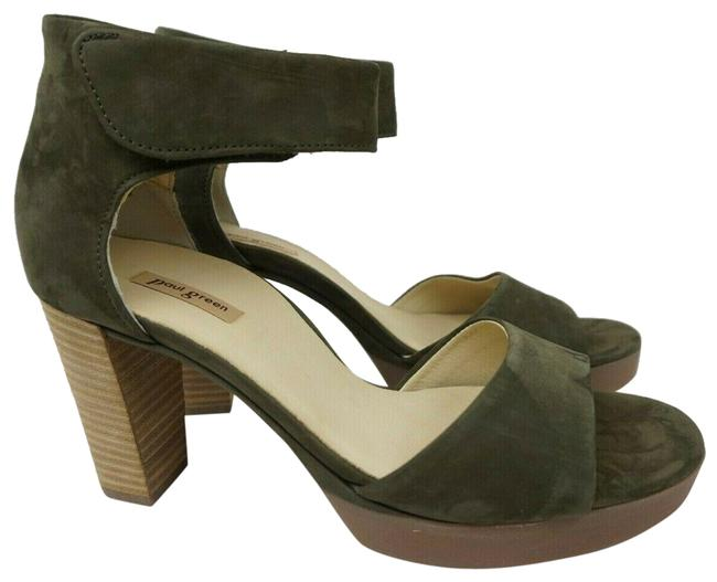 Item - Charlene Ankle Strap Olive Nubuck Women's Sandals Size US 7.5 Regular (M, B)