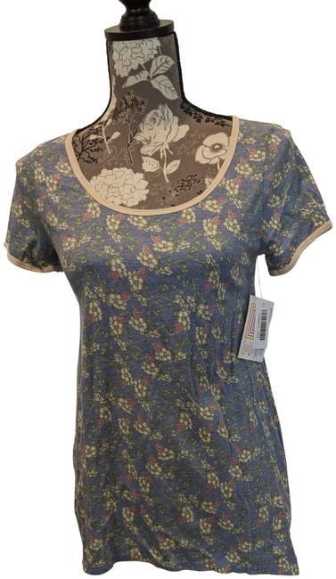Item - Blue and Yellow Floral Classic T Tee Shirt Size 00 (XXS)