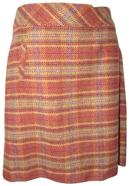 Item - Red/Yellow/Tan Plaid Skirts/Clothes Skirt Size 4 (S, 27)