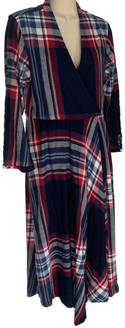 Anthropologie Navy Red White Outlander Mid-length Short Casual Dress Size 8 (M) Anthropologie Navy Red White Outlander Mid-length Short Casual Dress Size 8 (M) Image 1