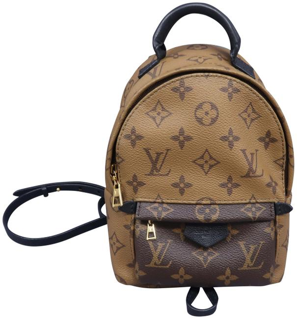 Item - Palm Springs Backpack Reverse Tan Monogram Canvas Beach Bag