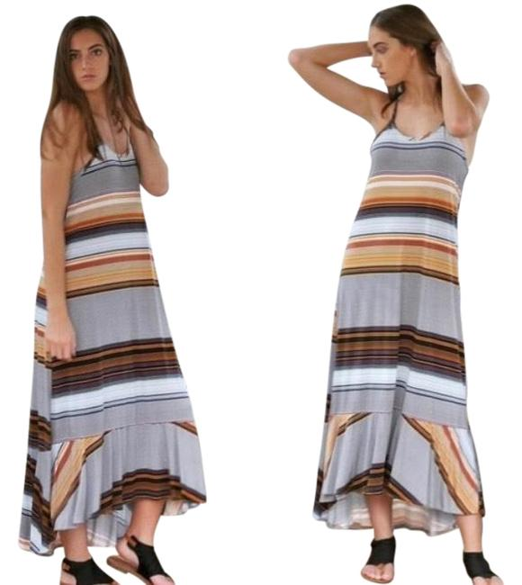 Item - Woman's Striped Long Casual Maxi Dress Size 10 (M)