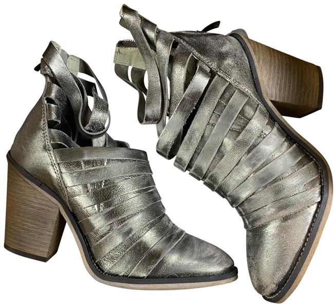 Item - Metallic/Gold Hybrid Boots/Booties Size EU 37 (Approx. US 7) Regular (M, B)