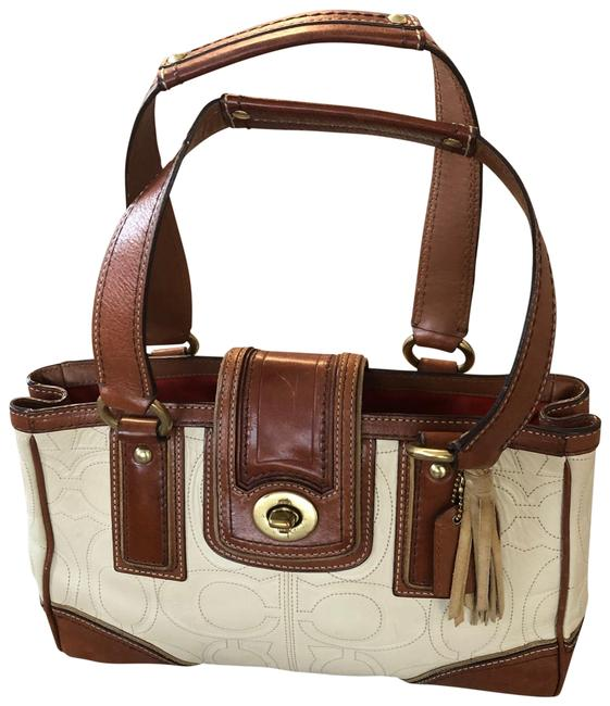 Item - Vintage Tan and Cream Leather Tote