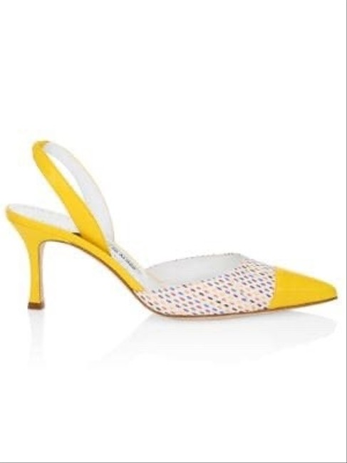 Item - Yellow Carolyne Cap-toe Leather Pumps Size EU 40 (Approx. US 10) Regular (M, B)