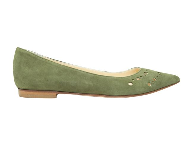 Item - Olive Green Suede Pointed-toe Flats Size US 6.5 Regular (M, B)