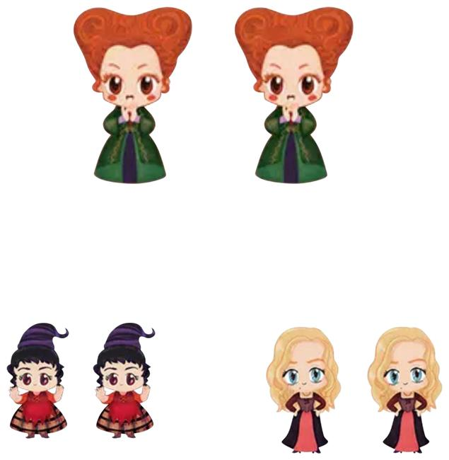 Item - Hocus Pocus Sanderson Sisters Stud Set Earrings