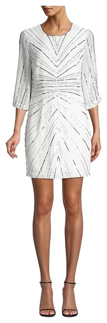 Item - White with Sequins Short Cocktail Dress Size 6 (S)