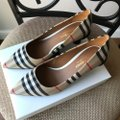 Burberry Beige Check Pattern Cotton Pumps Size EU 36.5 (Approx. US 6.5) Regular (M, B) Burberry Beige Check Pattern Cotton Pumps Size EU 36.5 (Approx. US 6.5) Regular (M, B) Image 9