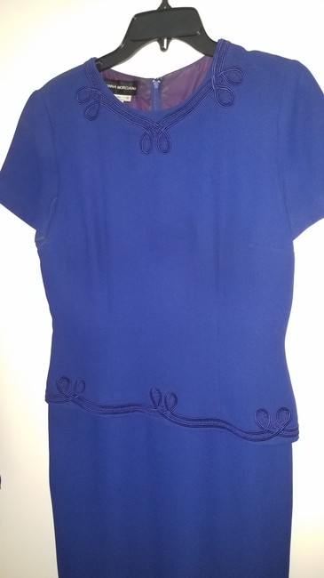 Item - Purple/ Blue Is Polyester and The Lining Is Acetate. Euc Mother Of Bride Vintage Bridesmaid/Mob Dress Size 10 (M)
