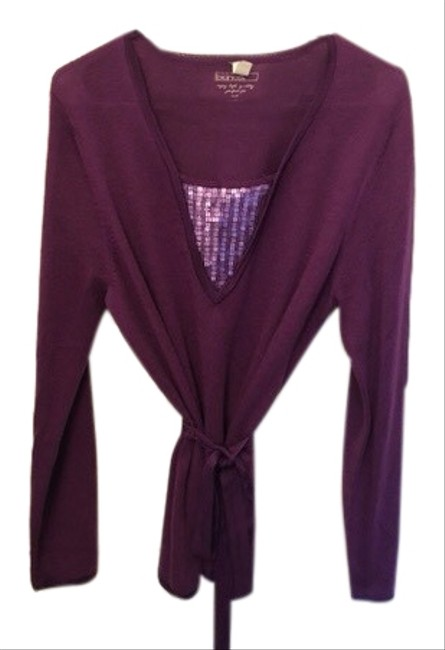 Item - Purple Sweater with Belt Cardigan Size 10 (M)