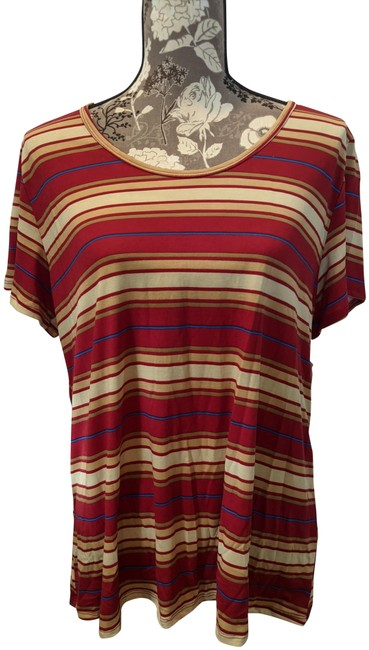 Item - Red Yellow and Blue Stripe Classic T Tee Shirt Size 22 (Plus 2x)
