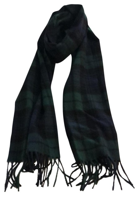 Item - Navy/Green/Black Men's Cashmere Scarf Poncho/Cape Size OS (one size)