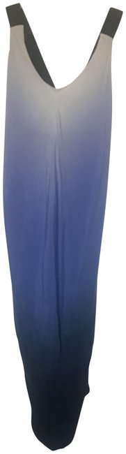Item - Ombré Purples and Whites Silk Summer Mid-length Casual Maxi Dress Size 4 (S)