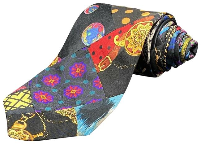 """Item - Multi Colors Artsy Neck Tie Italy 4 X 59"""" Abstract"""